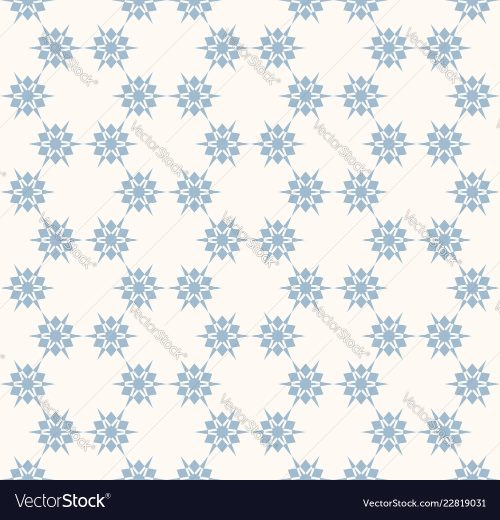 Snowflakes seamless pattern delicate blue and