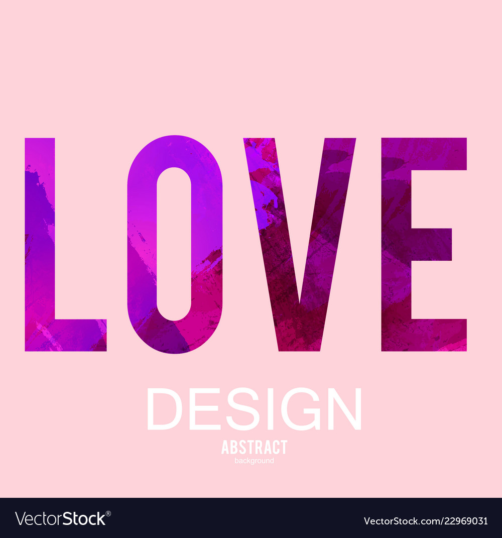 Stylized letters love background