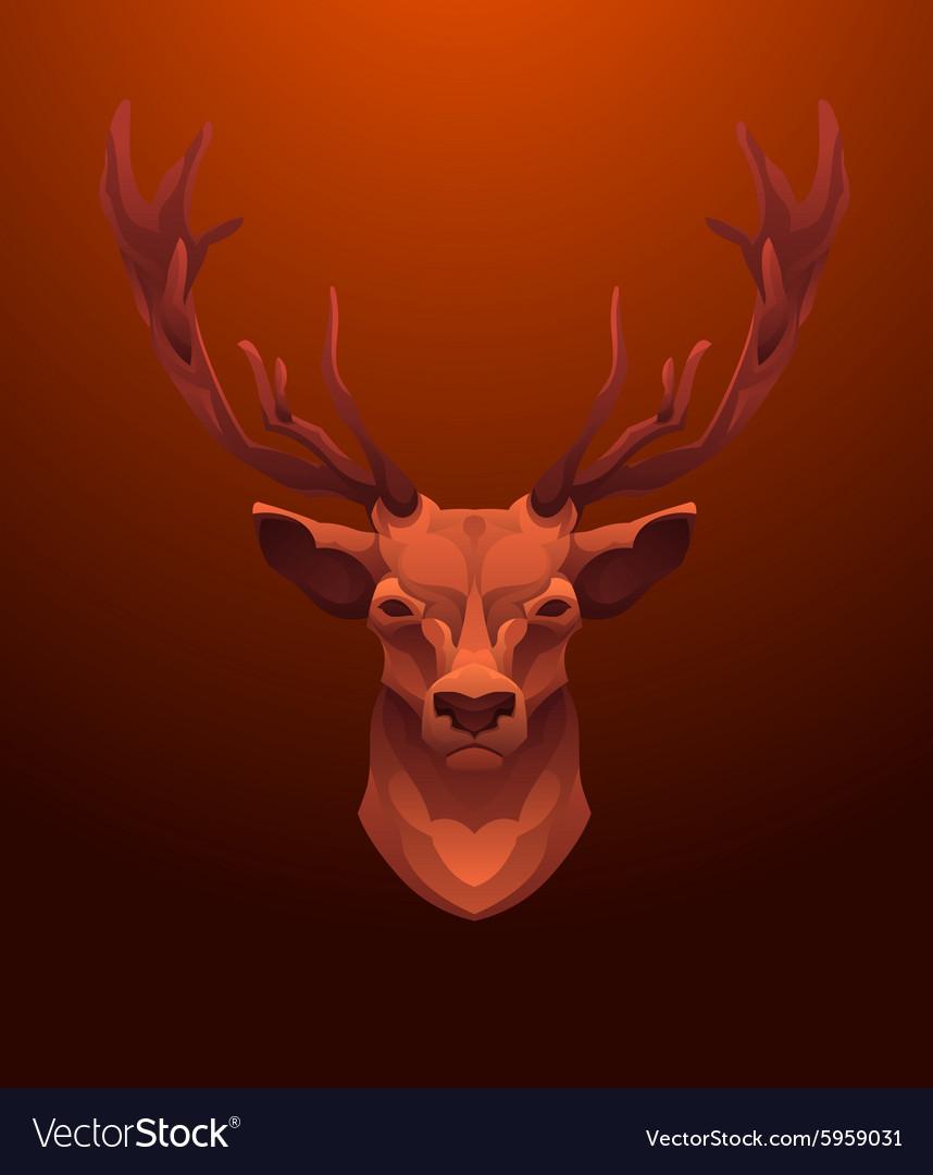 Vintage Deer label Retro design graphic