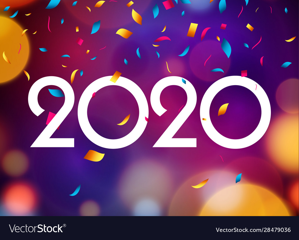 2020 new year happy card background party