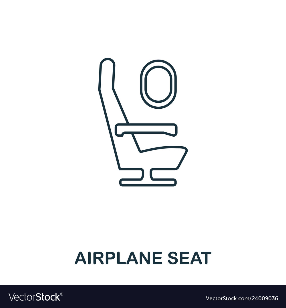Airplane seat icon outline thin line style from