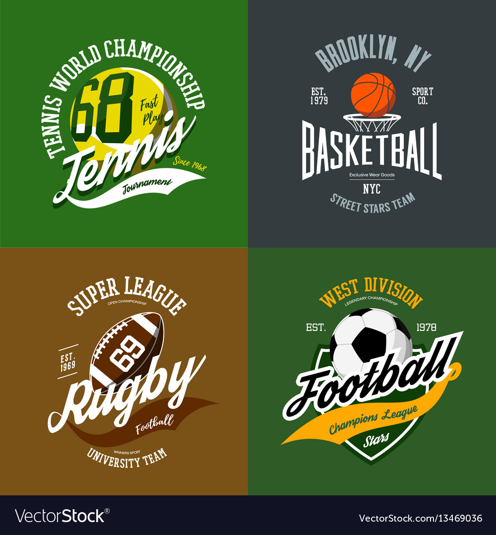 Basketball and soccer rugby and tennis icons vector image