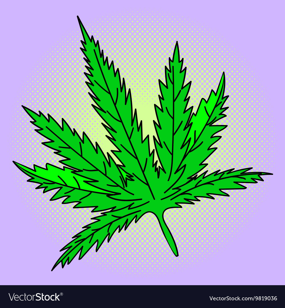 Cannabis leaf Pop art
