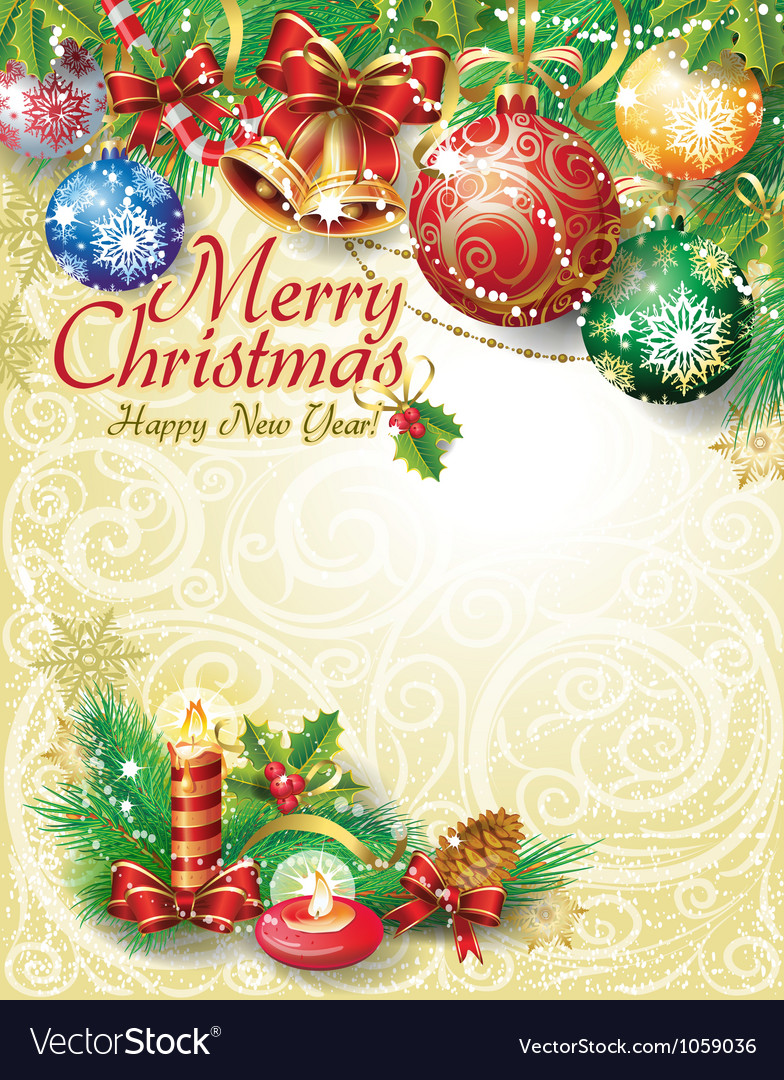 christmas template design royalty free vector image
