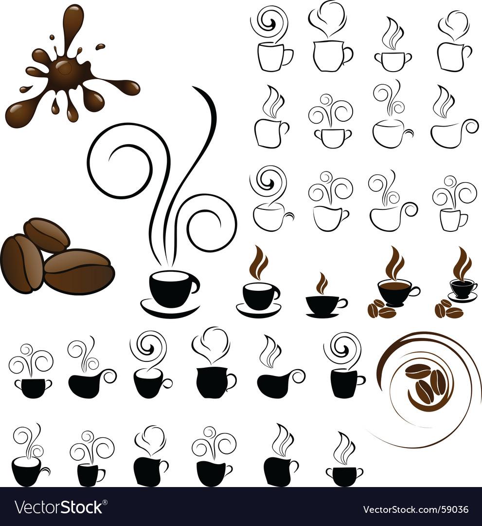 Coffee icons