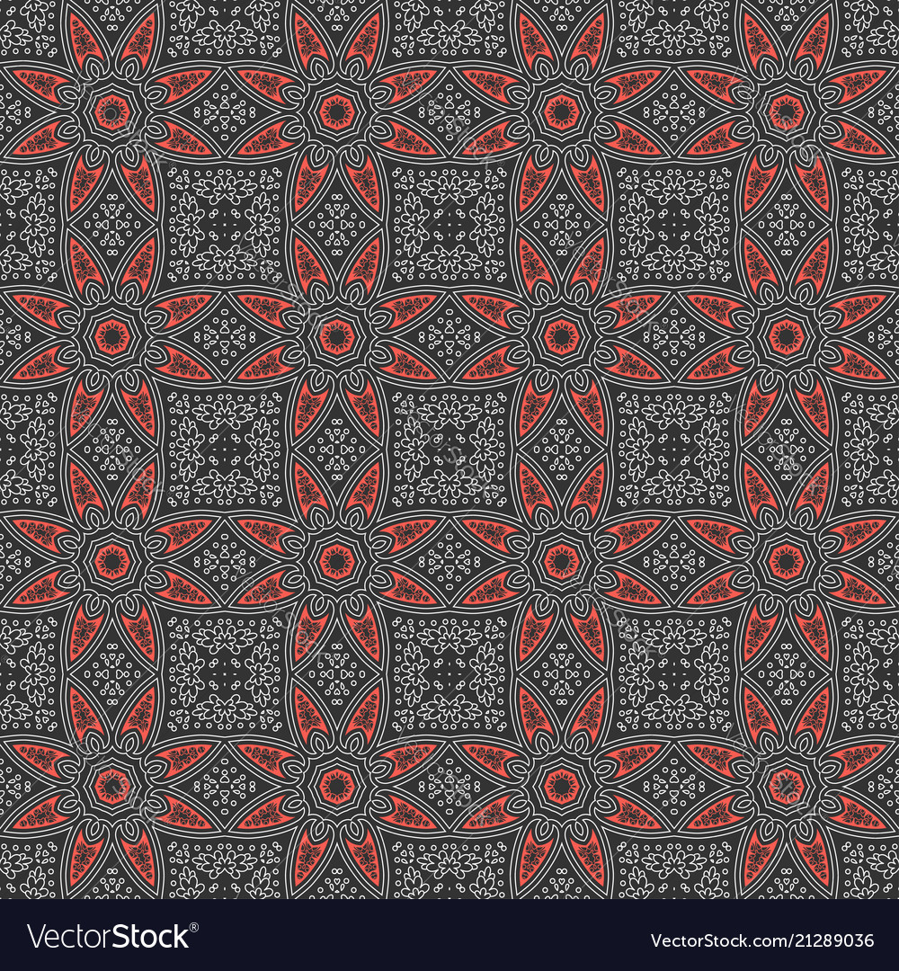 Ethnic vintage abstract seamless geometric pattern