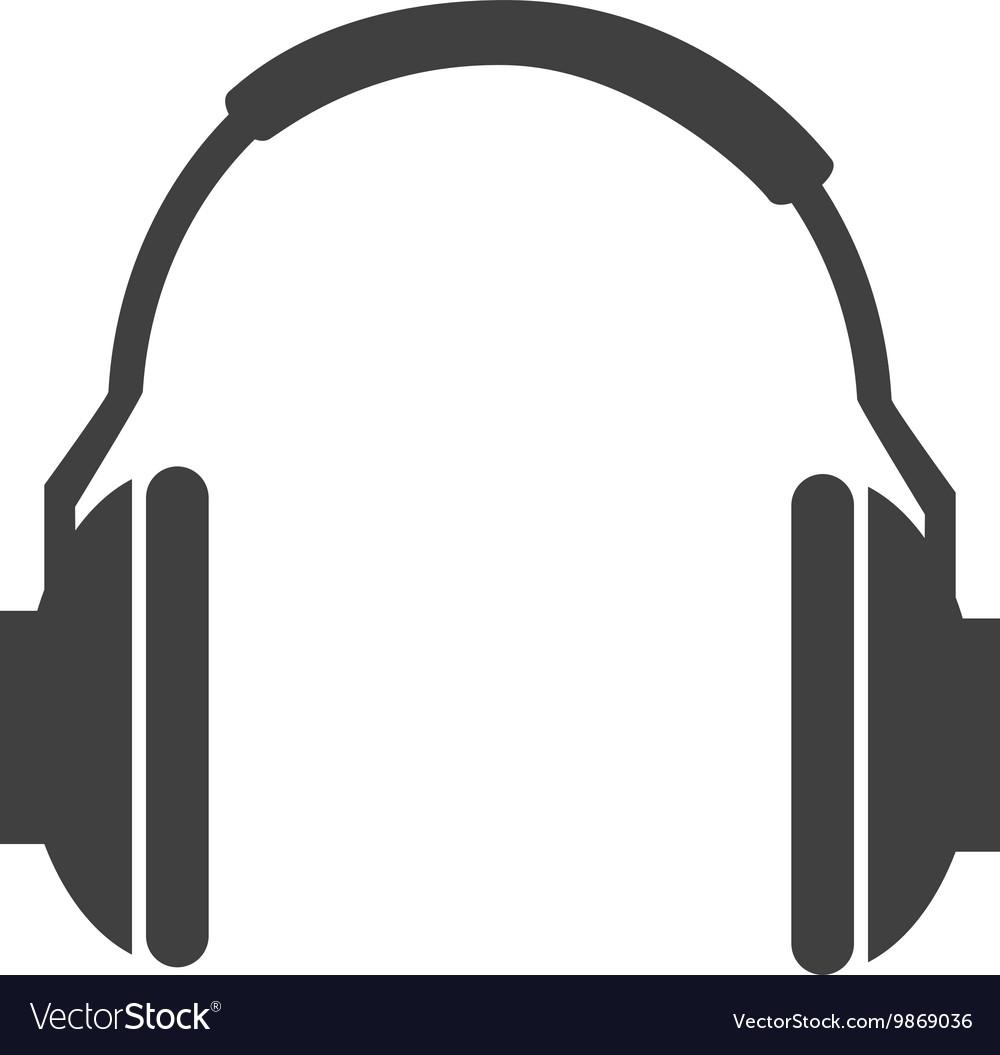 Music headphones technology icon vector image