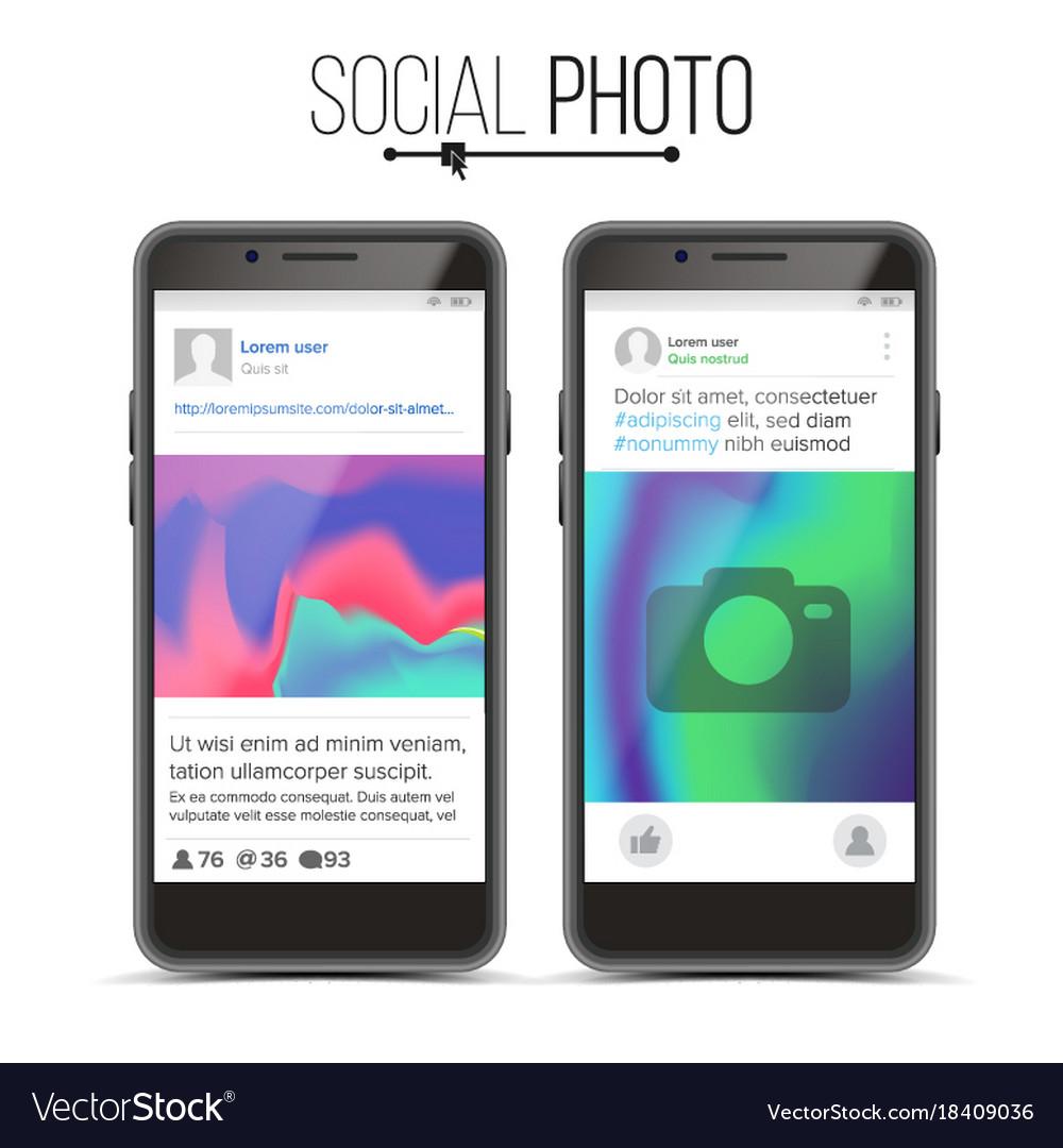 Photo frame social network photo frame on