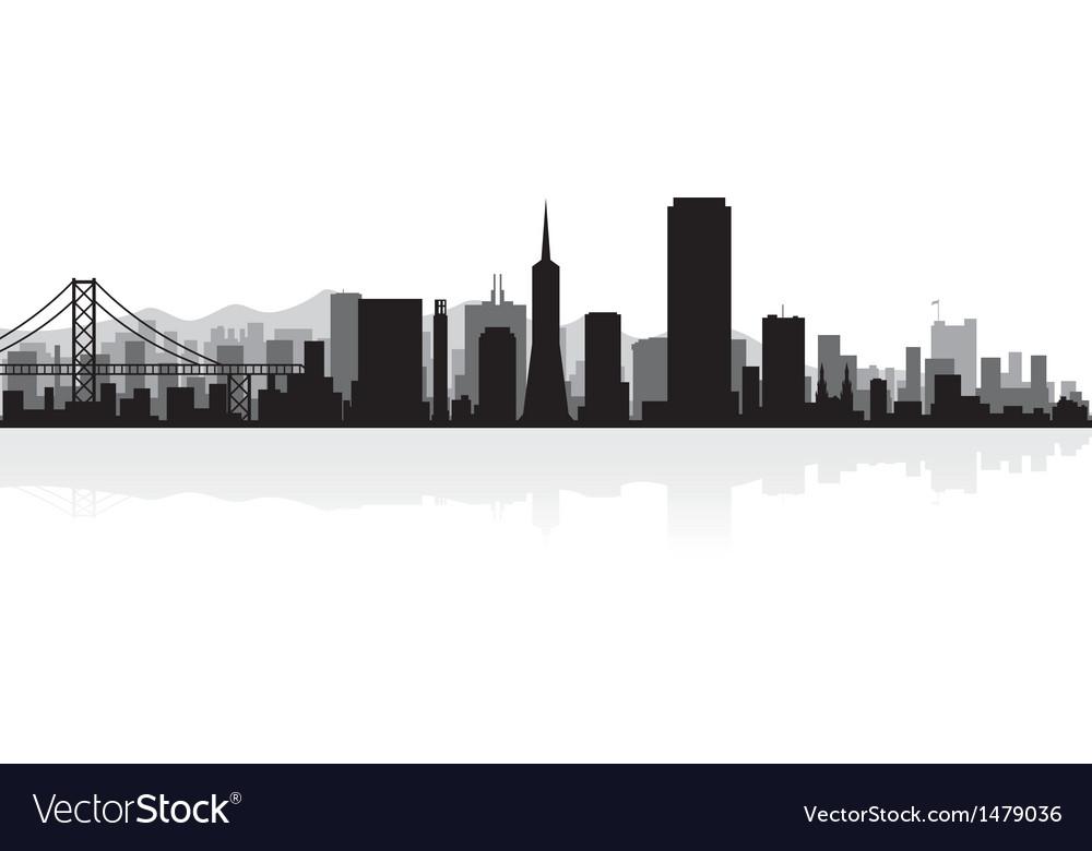 san francisco usa city skyline silhouette vector image