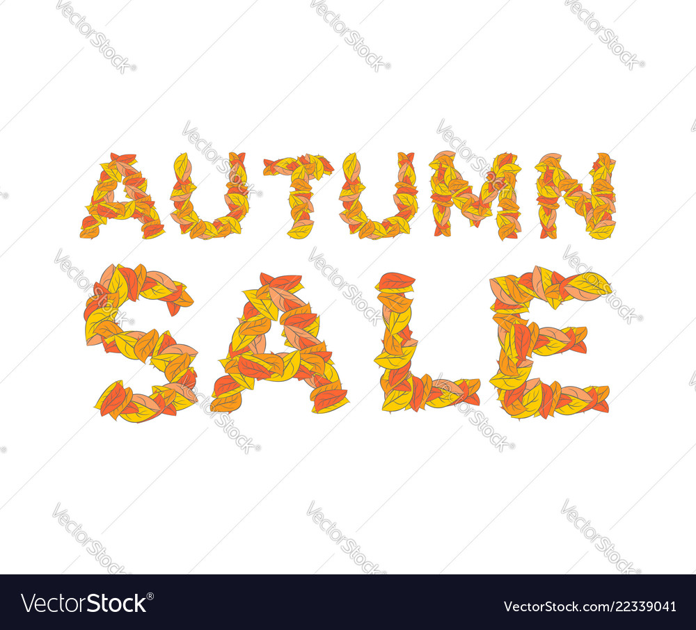 Autumn sale yellow leaves of abc autumnal