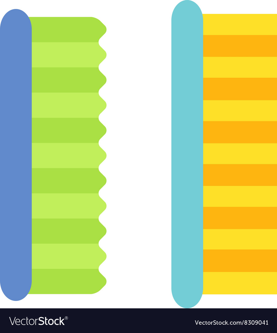 Cleaning brush icon flat modern design