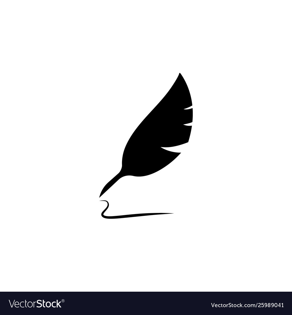 Feather pen icon isolated sign symbol icon