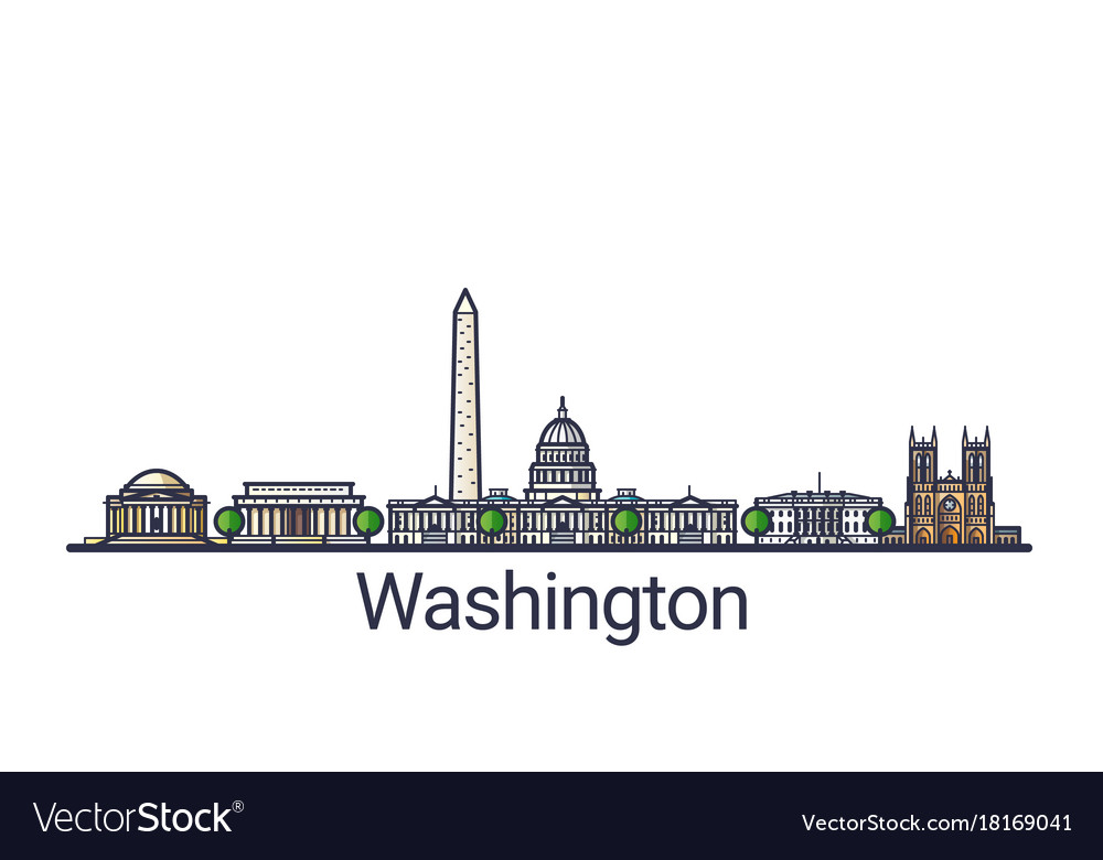 Flat line washington banner