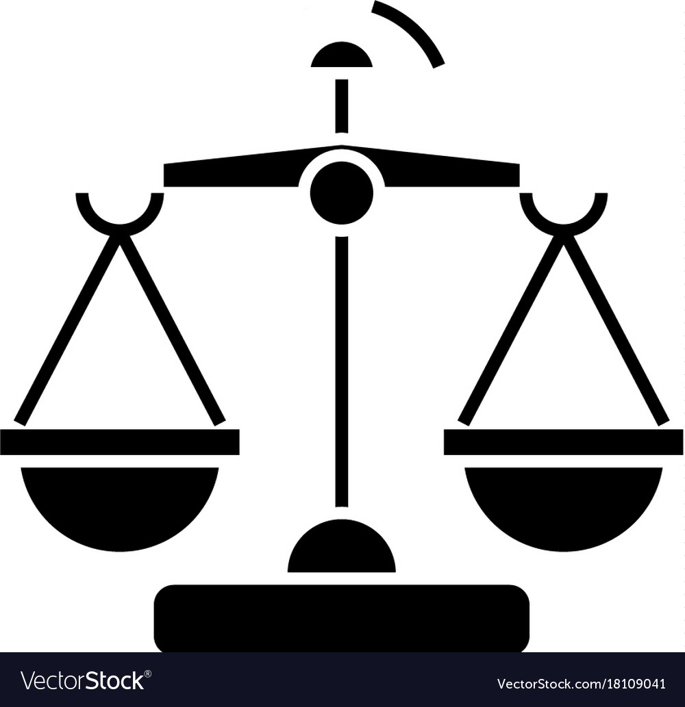 Law and justice - scales icon