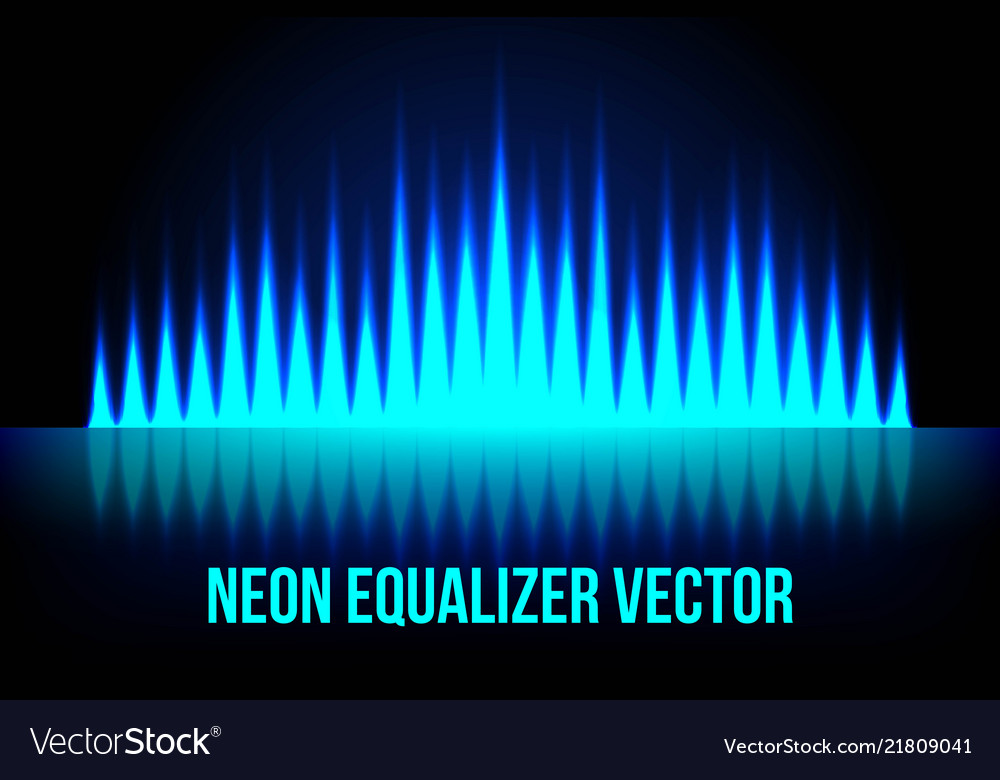 Music equalizer in the dark colors
