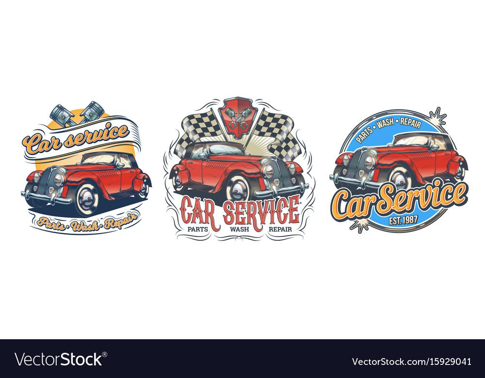 Set of vintage badges stickers signage vector image