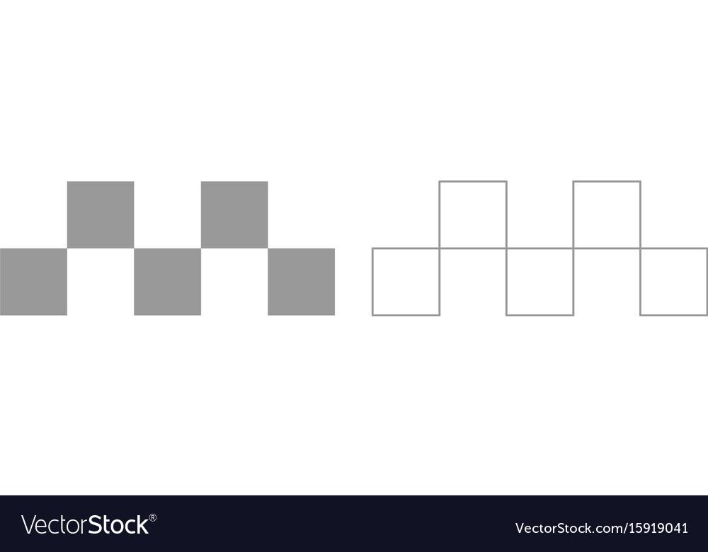 Taxi symbol grey set icon vector image