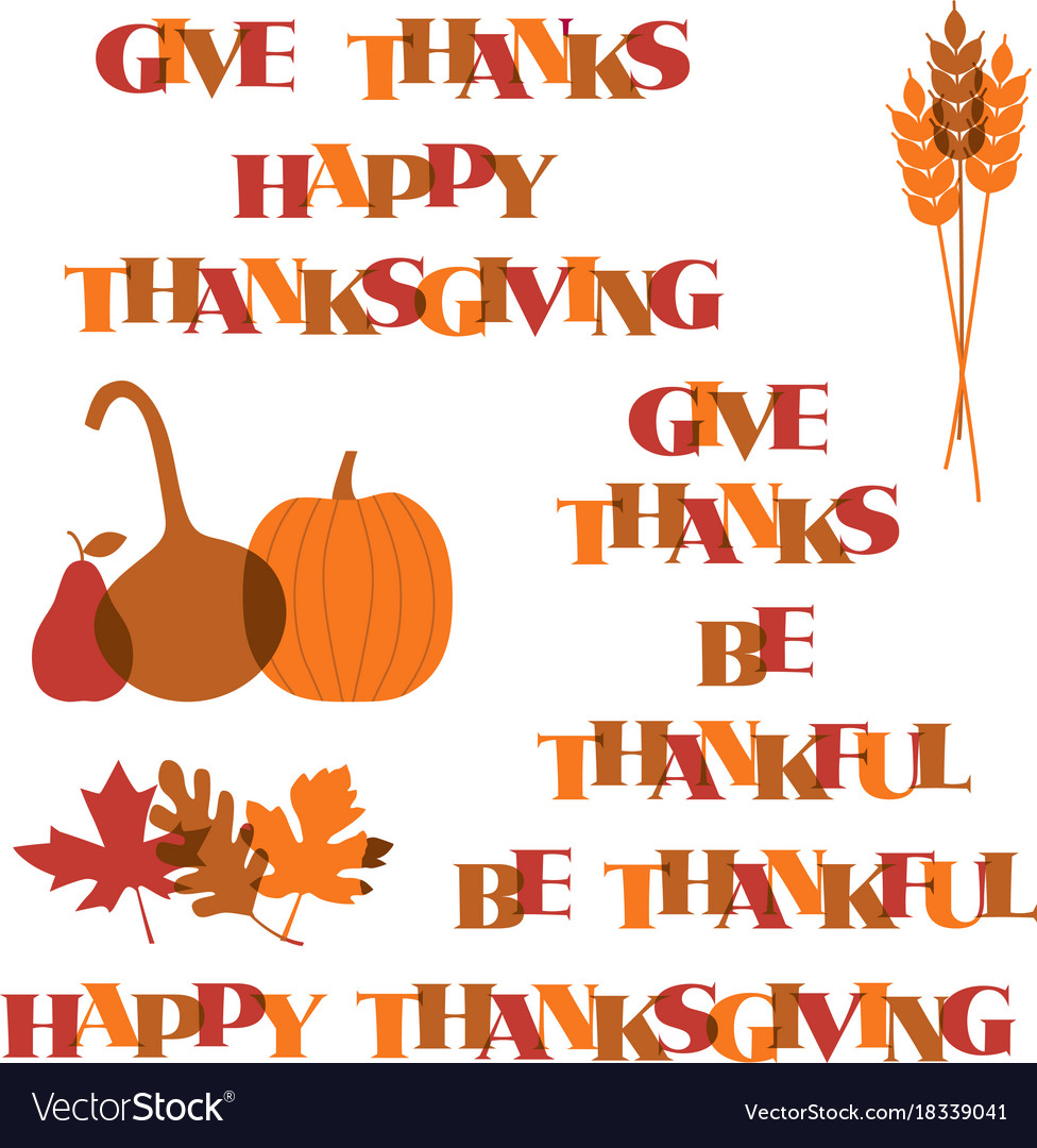 Thanksgiving typography graphics and icons