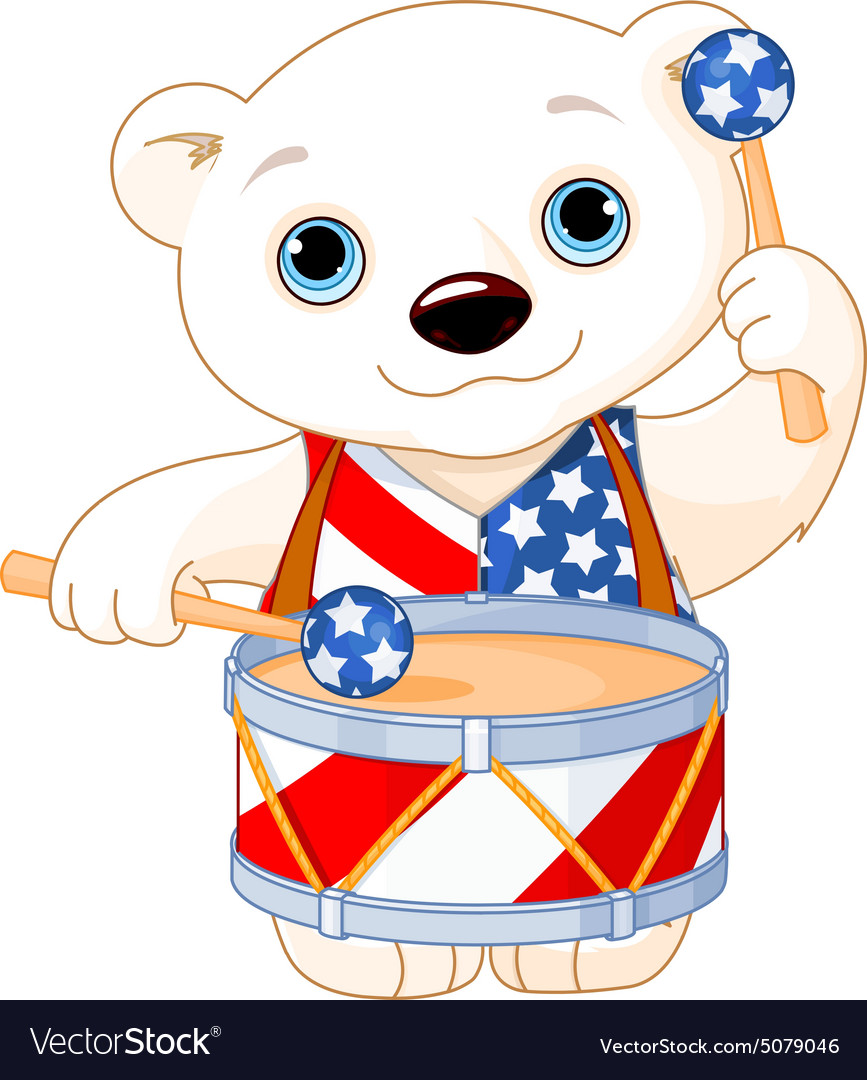 4th of July Polar Bear