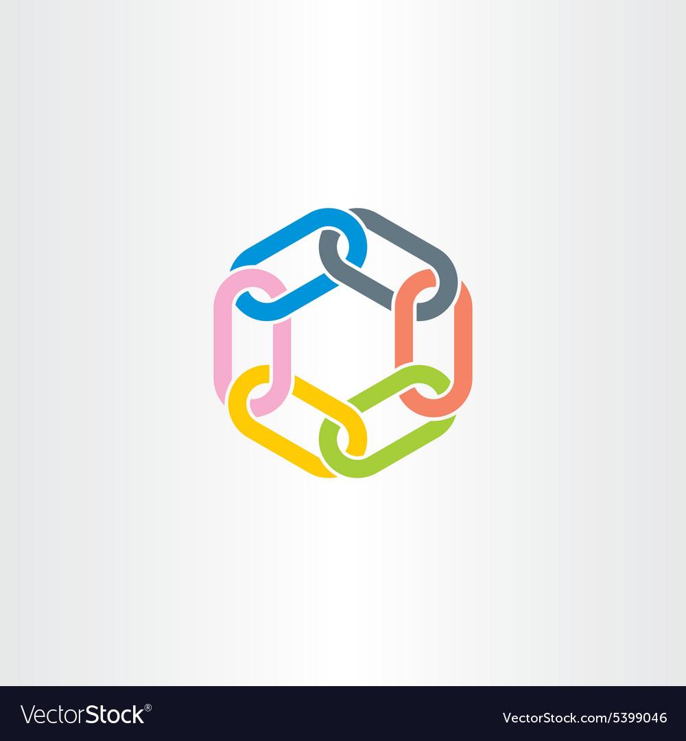 Chain link symbol design element