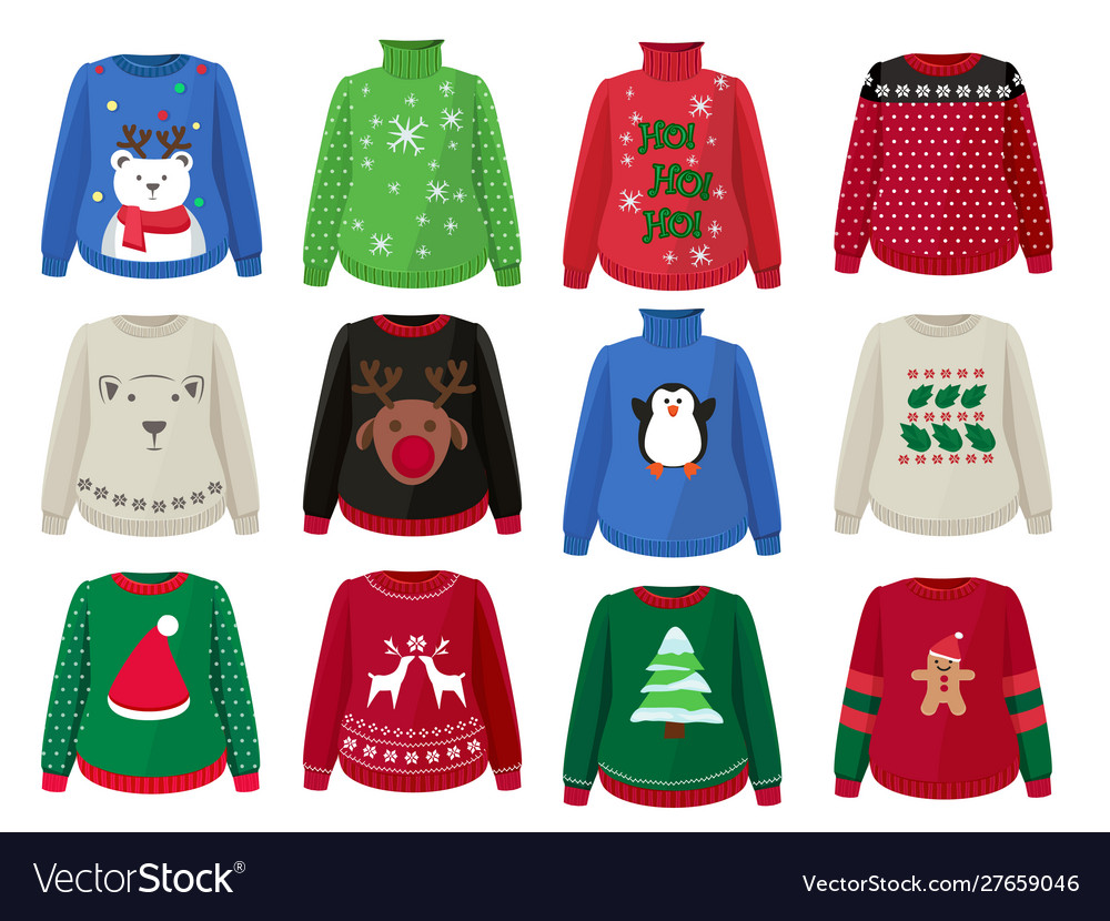 Christmas sweaters funny ugly clothes with