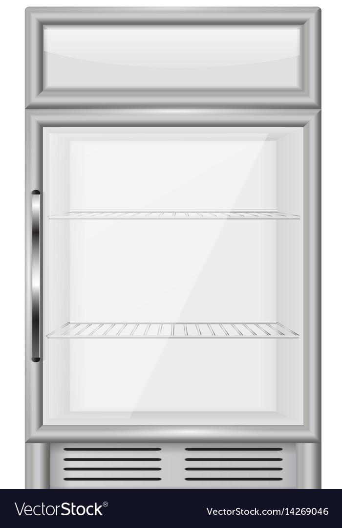 Display refrigerator vector image