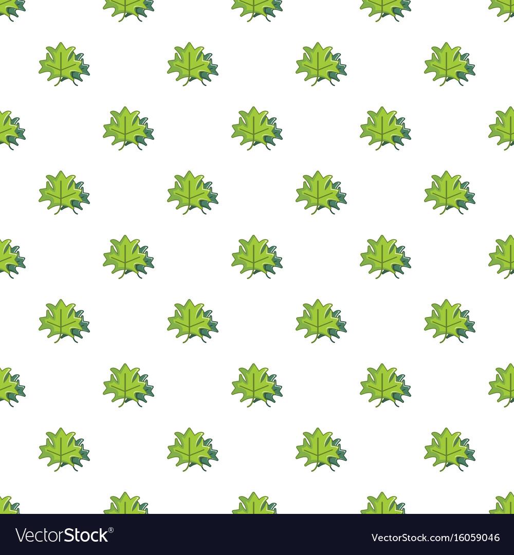 Green maple leaves pattern