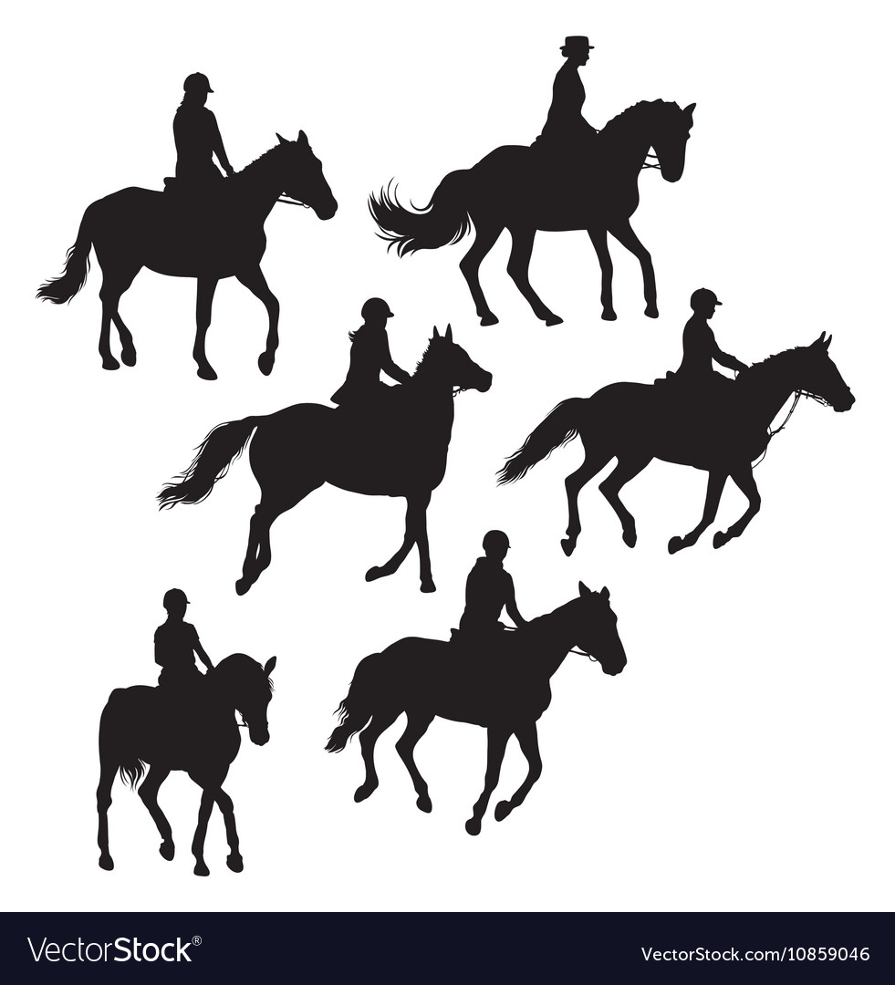 Jockeys And Riders vector image