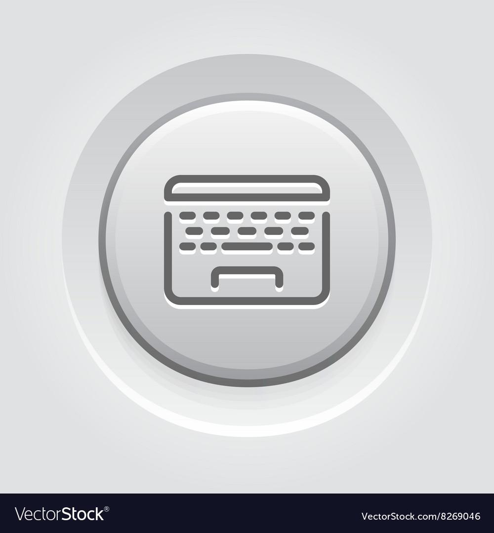 Laptop Button Icon vector image