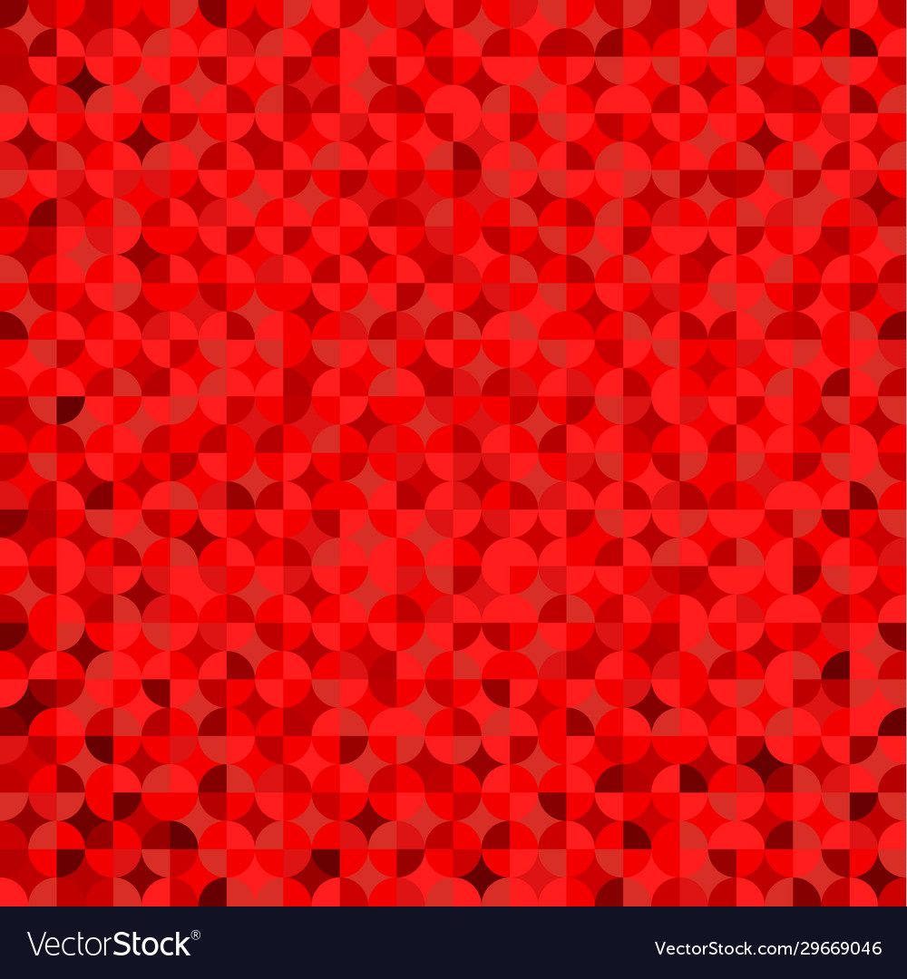 Red geometric with round triangle symmetrical
