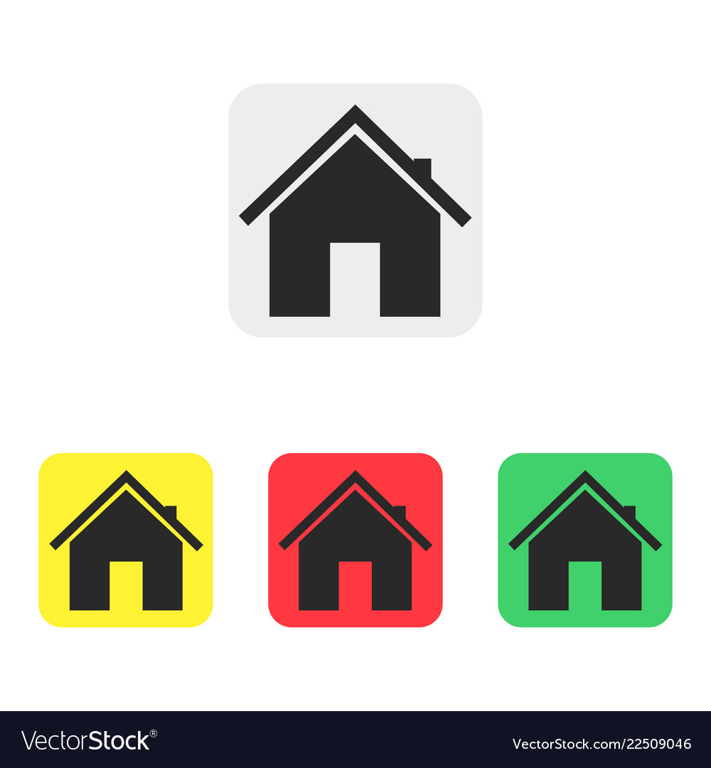 Set of house icons in flat style icons