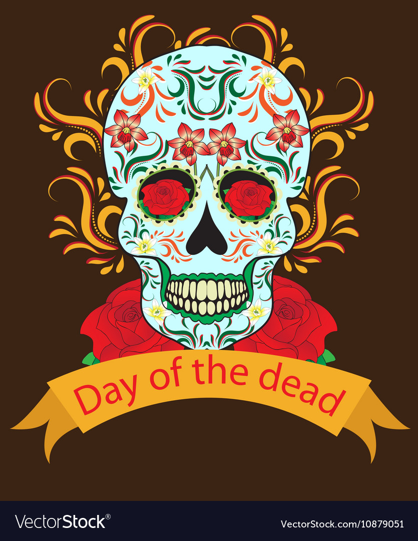 Day of the Dead a Mexican festival vector image