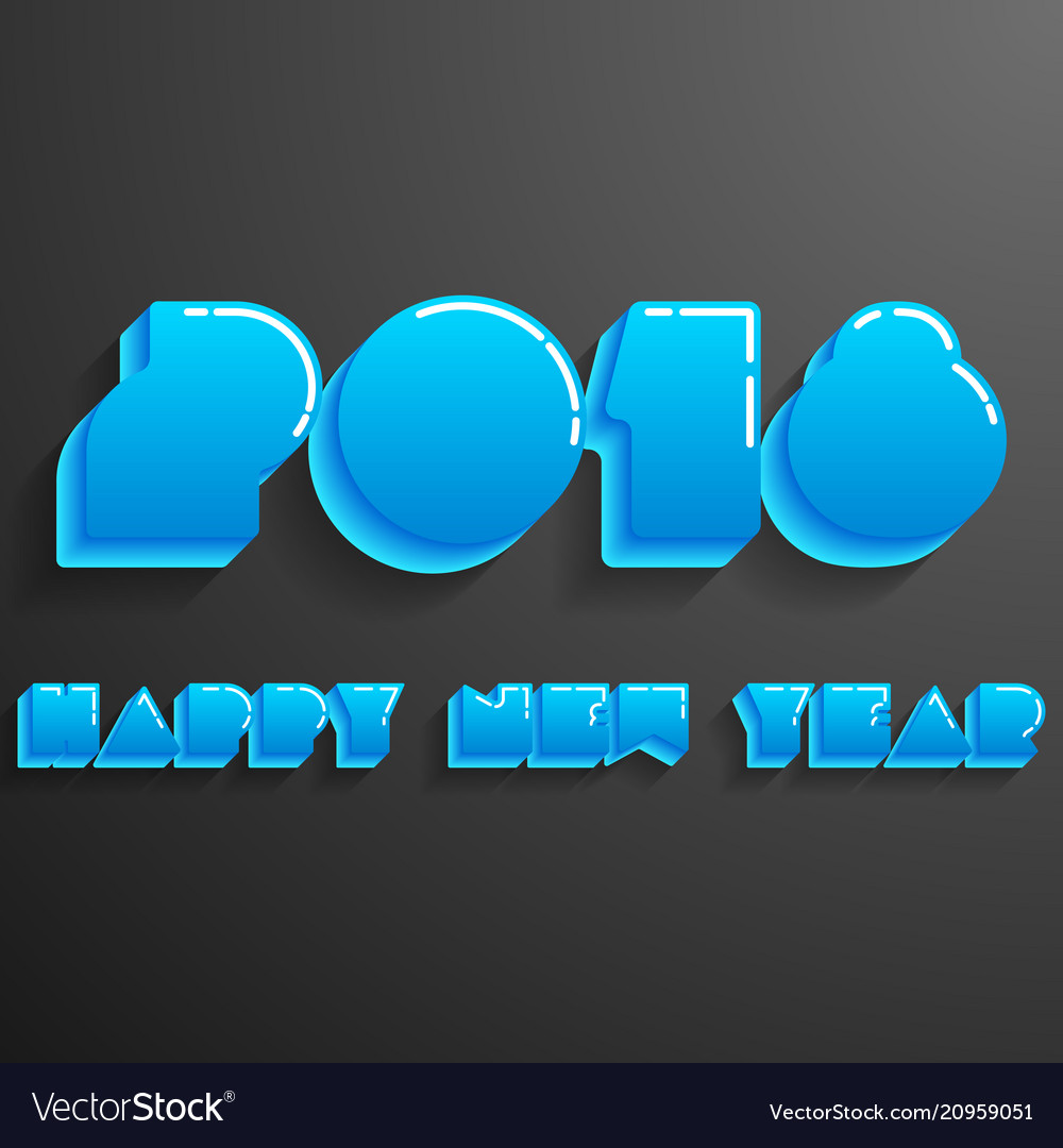 Happy new year 2018 card modern design template
