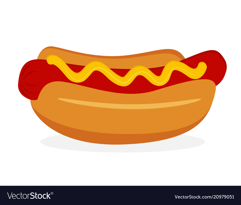 Hot dog icon fastfood isolated sweet food and