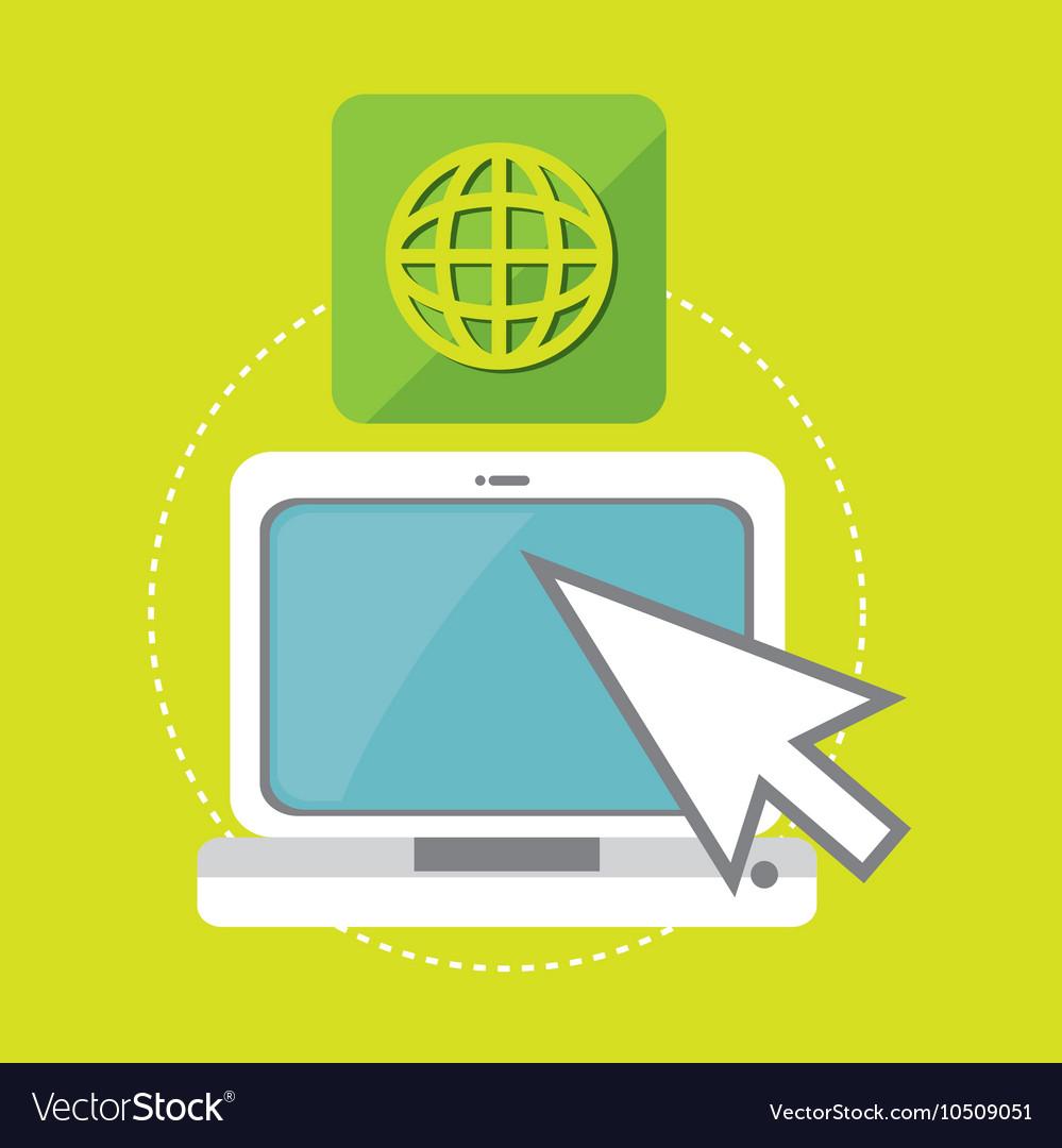 Laptop arrow app icon