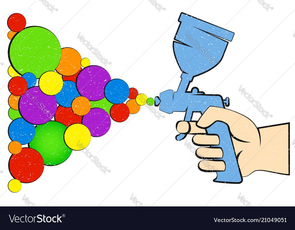 Paint Spray Gun Symbol Royalty Free Vector Image
