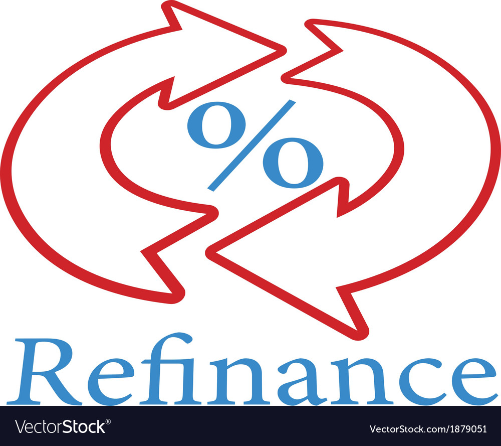 Refinance home mortgage loan icon symbol