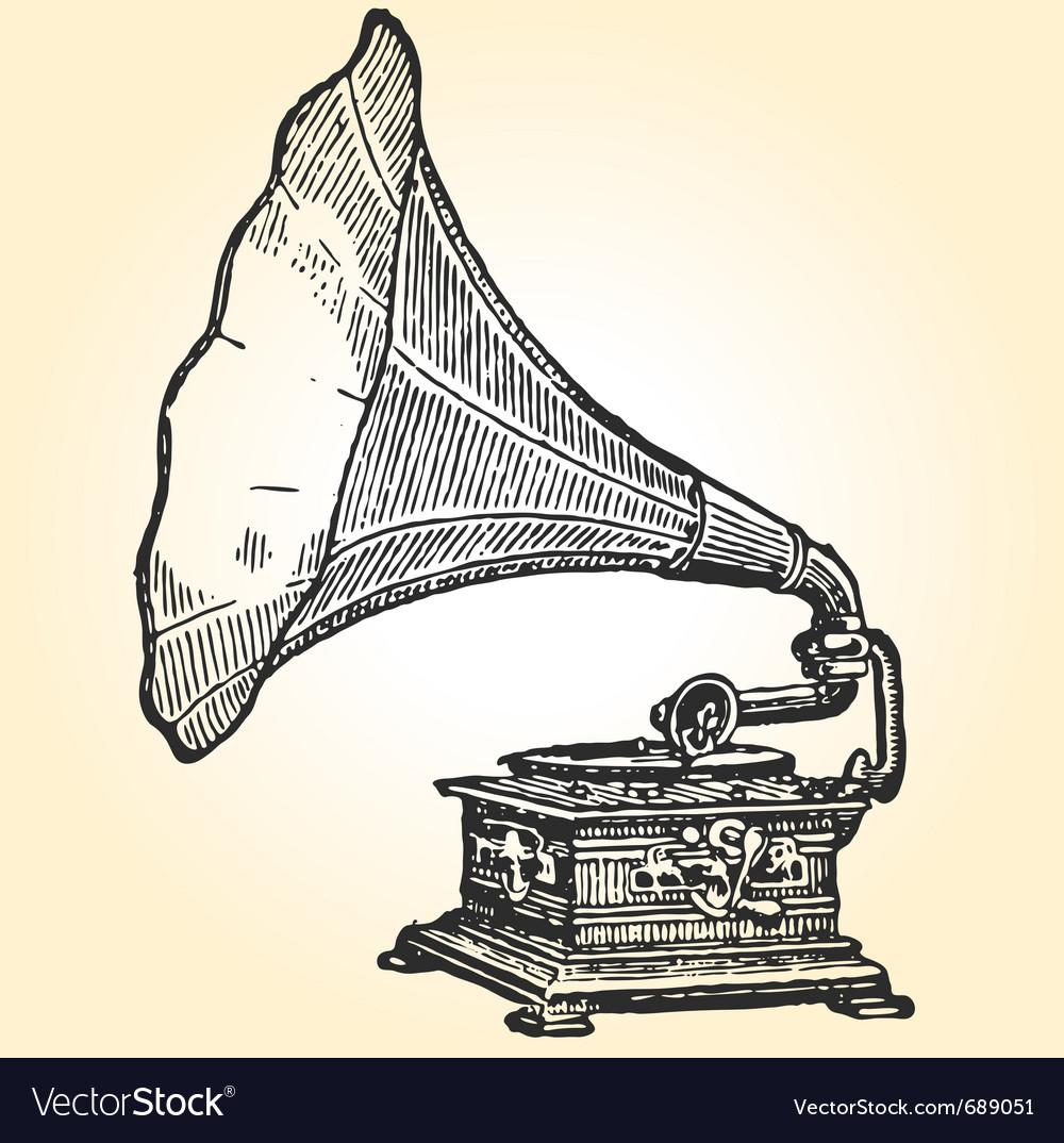 retro gramophone royalty free vector image vectorstock vectorstock