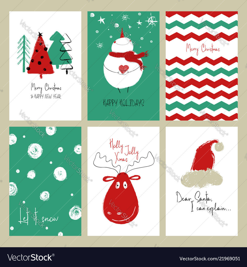Christmas Cards Royalty Free Vector Image