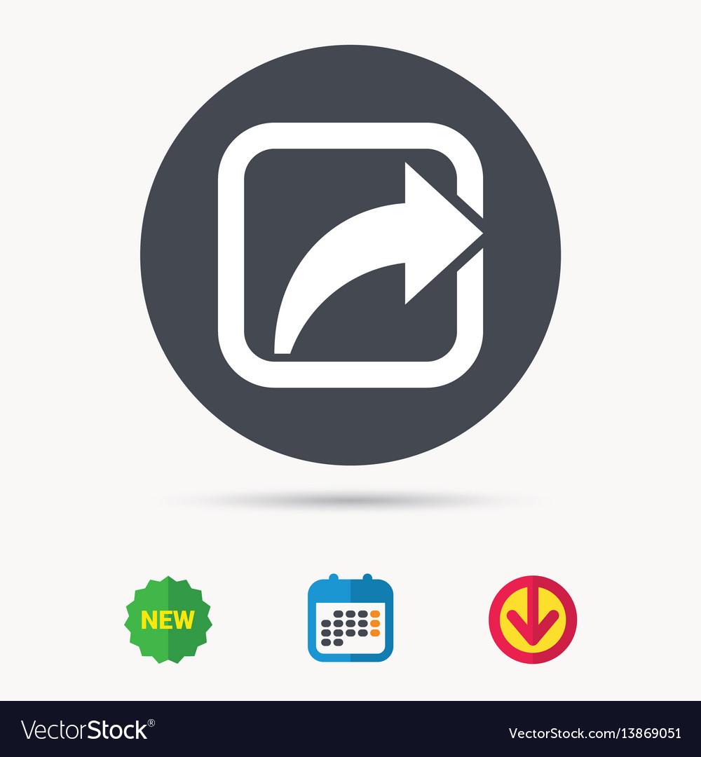 Share icon send social media information