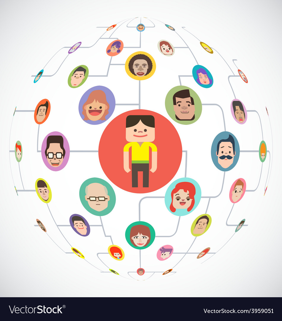 Social Media Globe Network