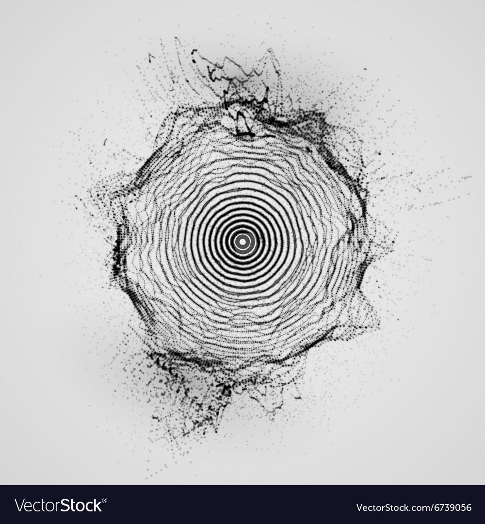 3D shape of particles array