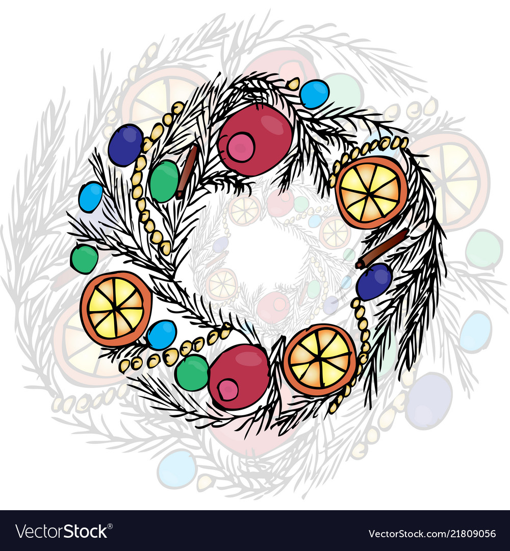 Christmas wreath liner and color