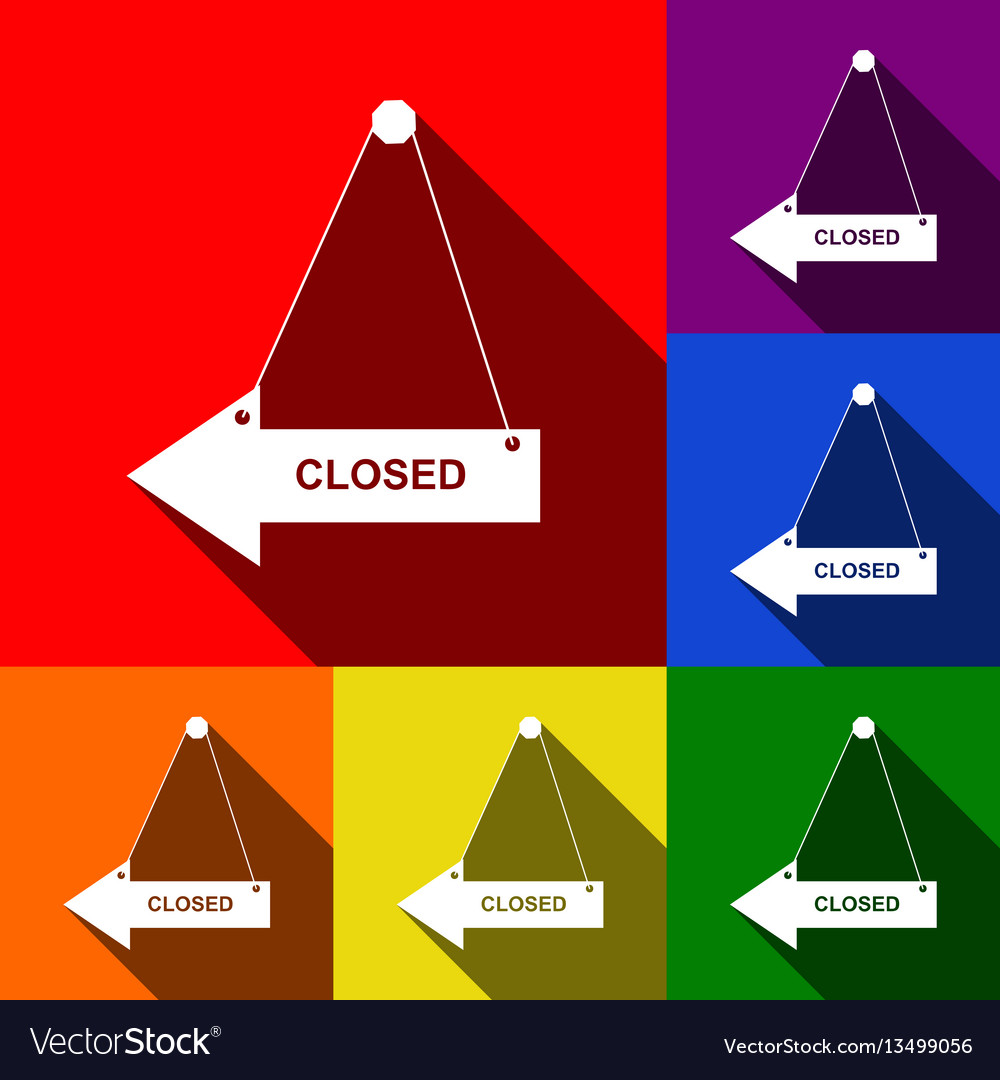 Closed sign set of icons