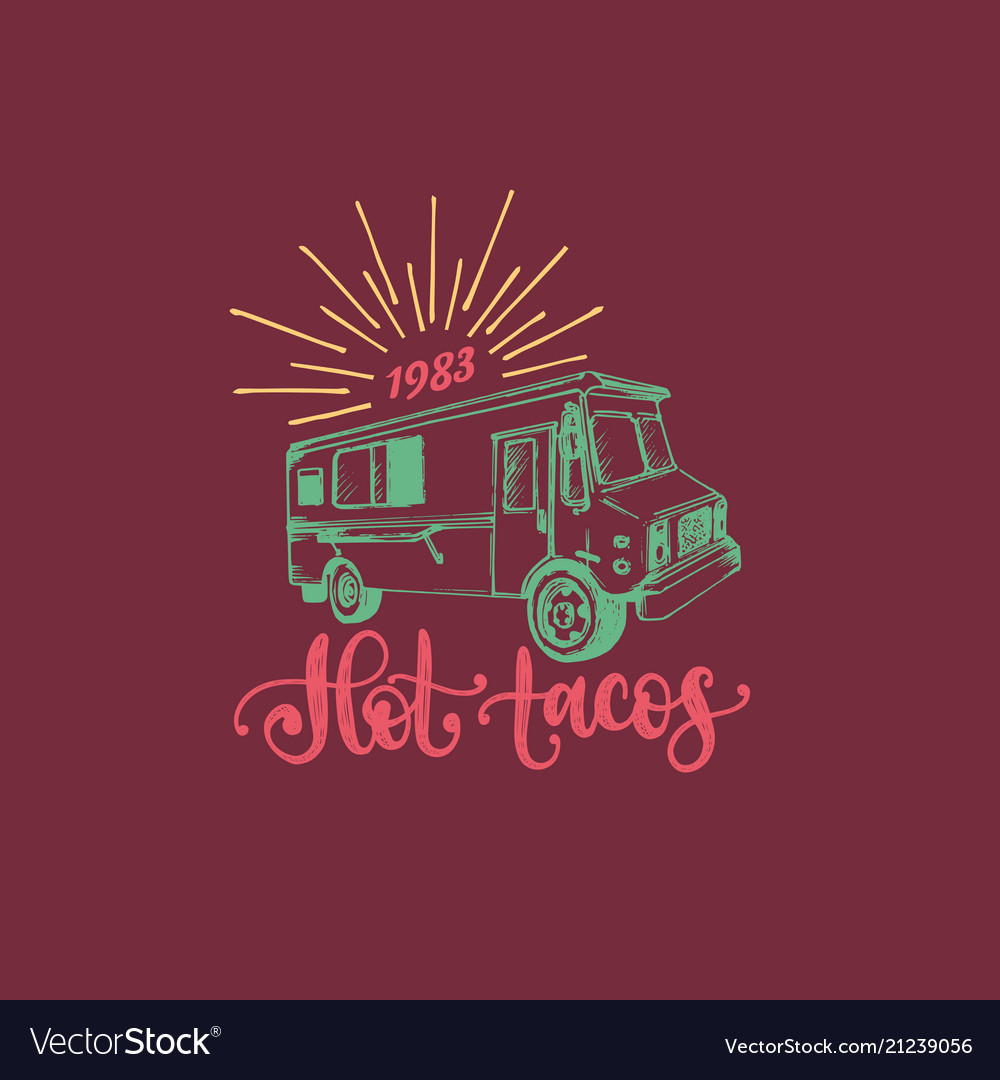 Hot tacos hand lettering of