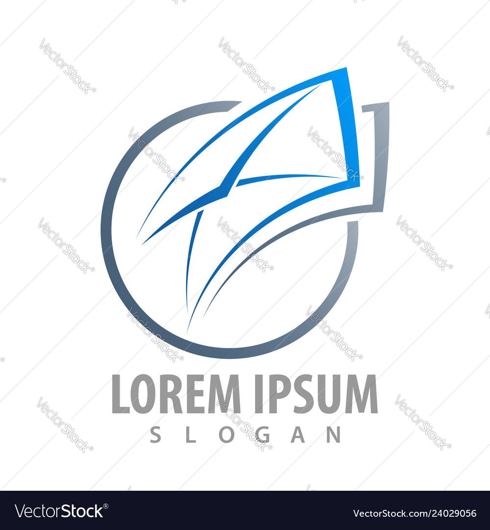 Logo concept design circle envelope symbol