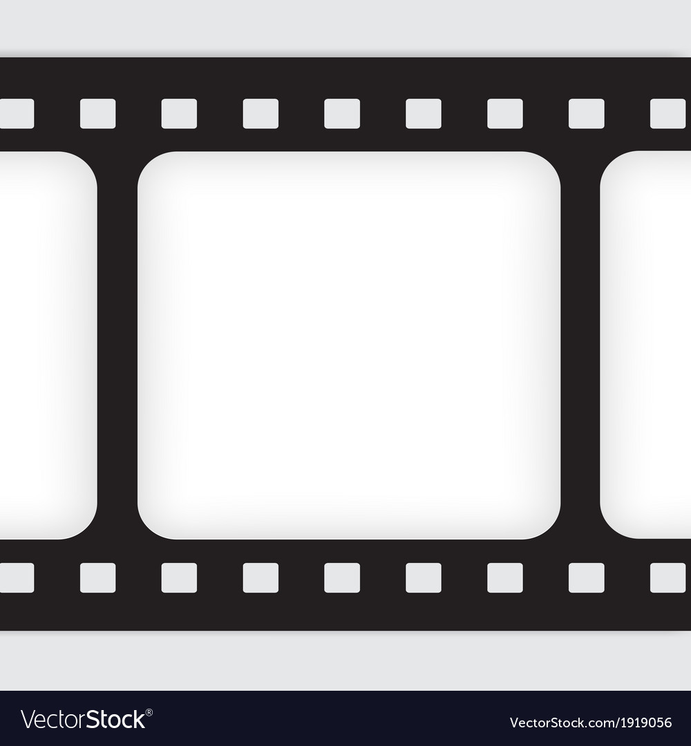 Old filmstrip Movie ending frame Royalty Free Vector Image