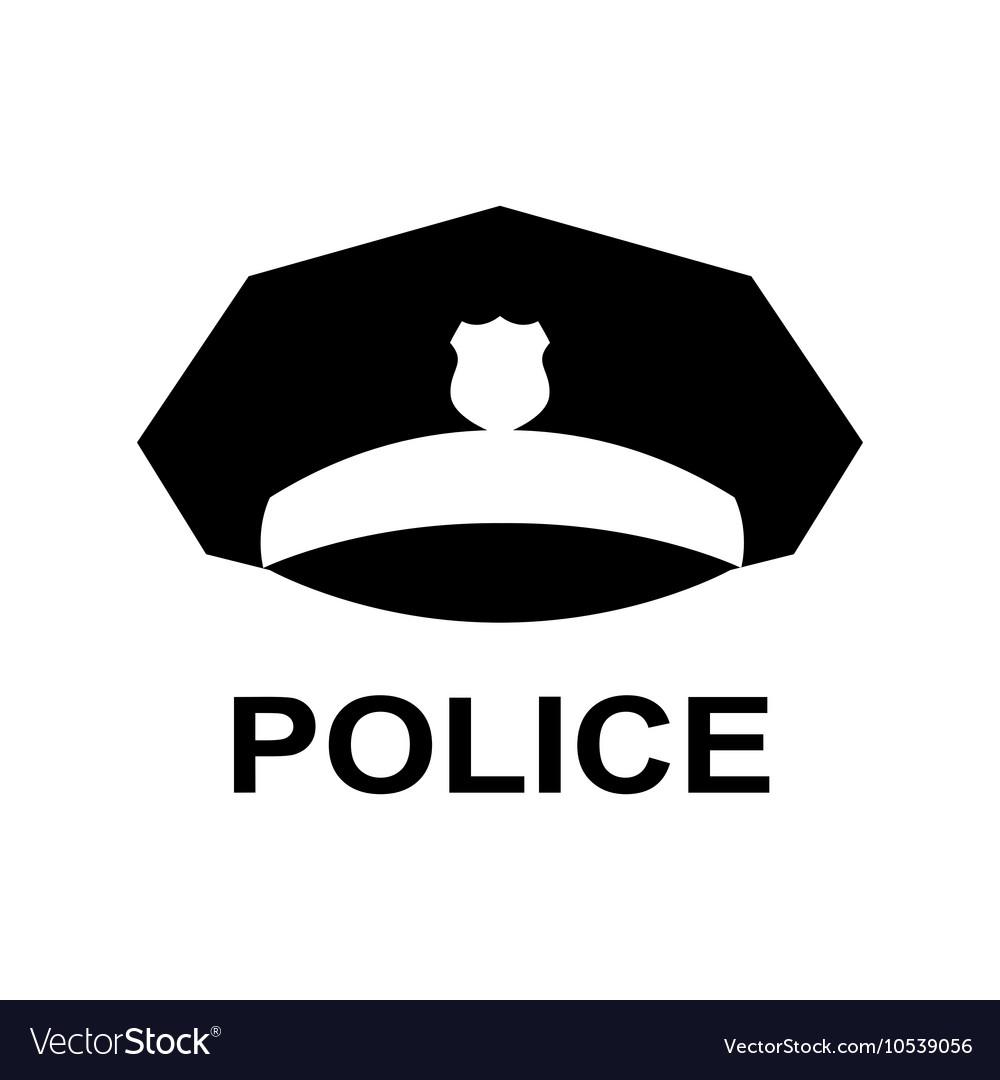 c11e201e25d Police cap icon Servicemans hat symbol Royalty Free Vector