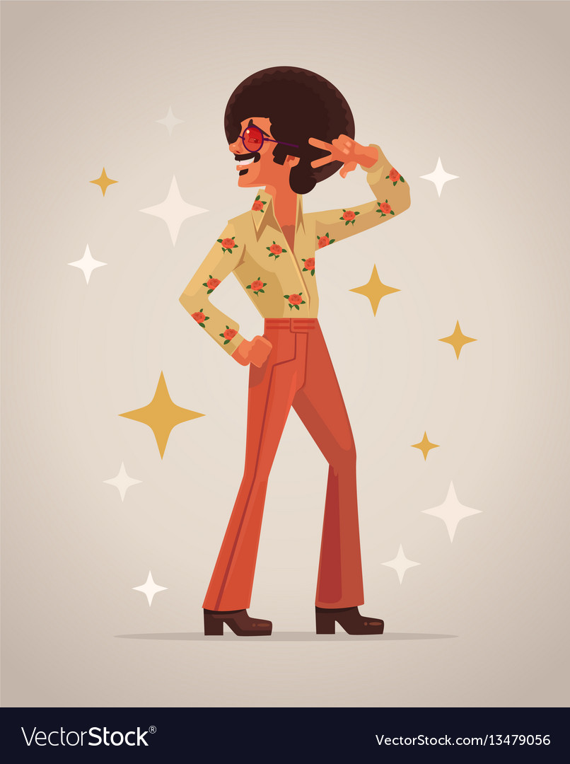 Retro disco dancer character