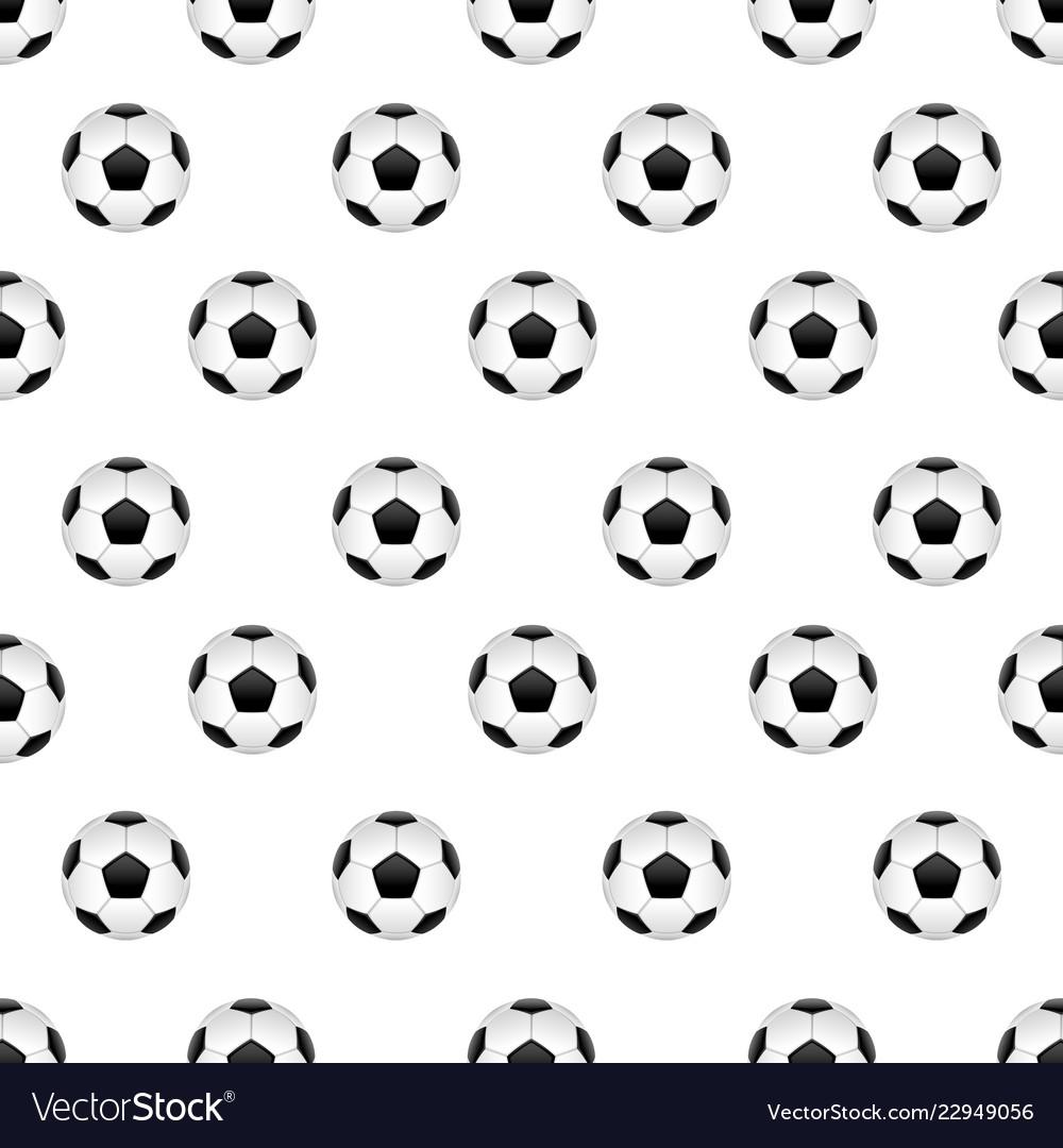 Seamless pattern with football ball